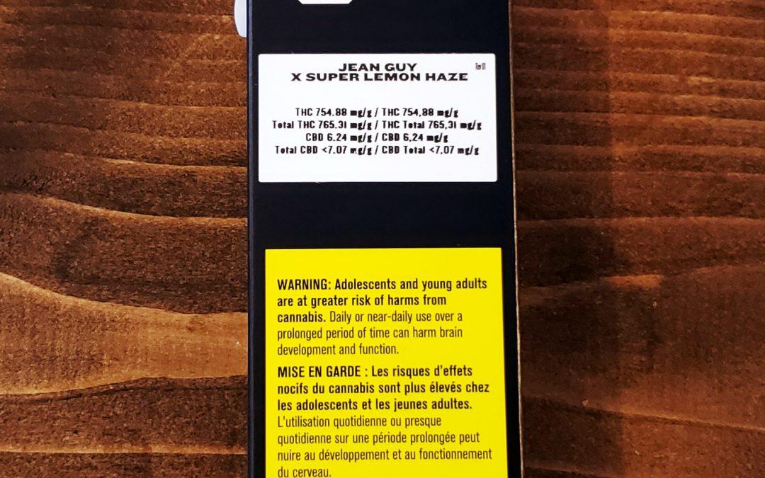 DISPOSABLE VAPE CARTRIDGE 'Jean Guy×Super Lemon Haze'  (Sativa)