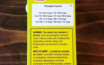 VAPE CARTRIDGE- 'Pineapple Express' (Hybrid)