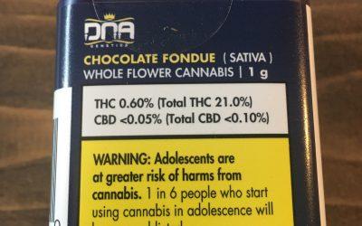 Flower- Chocolate Fondue Sativa (DNA Genetics)