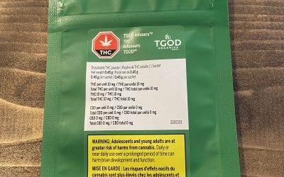 TGOD Dissolvable THC drink powder 10mg (Indica)
