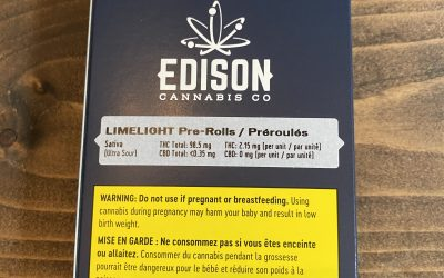PREROLL EDISON (Limelight) 3 pack Sativa