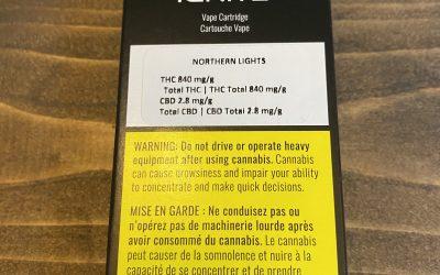 VAPE CARTRIDGE Northern Lights (Indica) Ignite