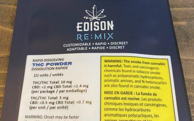 BEVERAGE THC POWDER (Hybrid) Edison Remix 2x 5mg