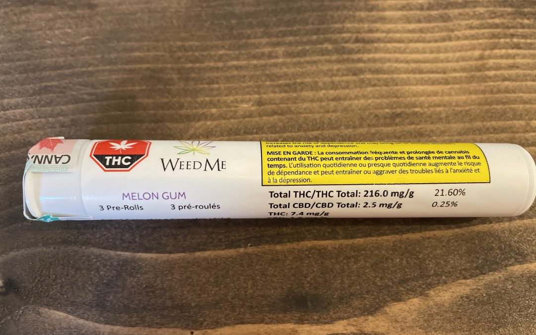 PREROLL Weed me (Indica) Melon Gum 3 pack