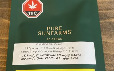 VAPE CARTRIDGE Critical Cali Mist (Sativa) Pure Sunfarms
