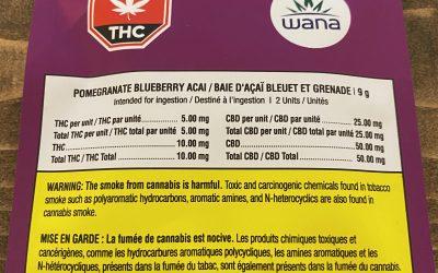GUMMIES Pomegranate Blueberry acai (Hybrid) Wana