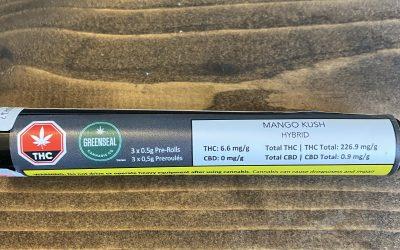 PREROLL Mango Kush (Hybrid) Greenseal 3 pack