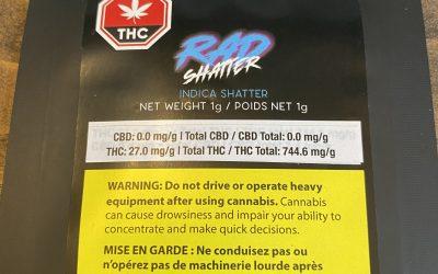 SHATTER Rad Shatter (Indica) 1 gram per unit