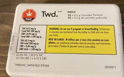 PREROLL Twd (Indica) 12 pack