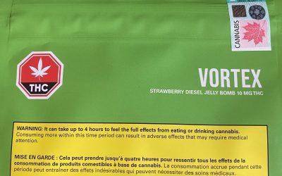GUMMIES Strawberry Diesel Jelly Bomb (Sativa) Vortex Cannabis